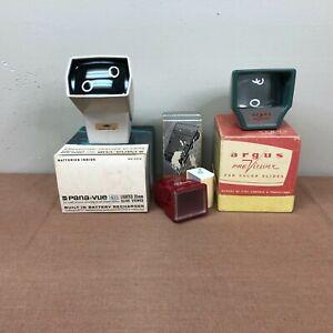 Lot of 3 Vintage Slide Viewers - Argus - Panavue - MicroEtte