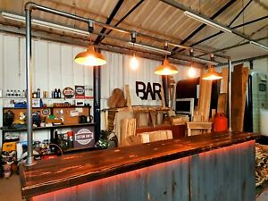 Large Rustic Industrial Mobile Bar Set Up Collapsible Coffee Shop Portable
