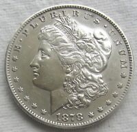 1878-S $1 Morgan Silver Dollar AU Detail Polished   see photos