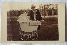 Foto - Karte, Oma mit KINDERWAGEN, 1928