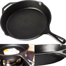 "Lodge Cast Iron Skillet 10.25"" Cookware Kitchen Chef Cooking Utensils Frying Pan"
