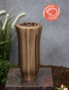 Grabvase / Friedhofsvase / Blumenvase / Grabschmuck / Vase aus Messing - NEU