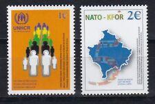 Kosovo 2004 post frescos MINR. 18-19 5 años acnur-unterstützu y la otan-kfor