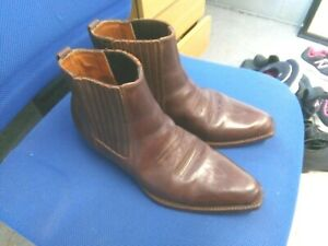Loblan dark brown all leather ankle Cowboy boots size 9/43