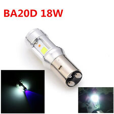 Motorcycle Headlight Bulbs 18 W BA20D White 6000 K Dual Colors Led COB lighting