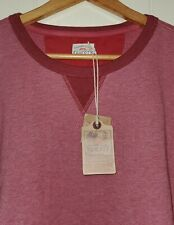 Faherty French Terry Crewneck Long Sleeve Pullover Mens 2XL NWT Crimson