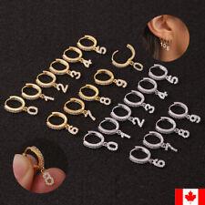 1PC trend Number Ear Piercing Jewelry CZ Helix Cartilage Earring Rook Hoop Snug