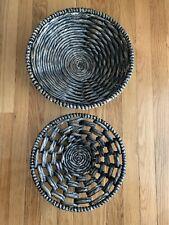Set Of 2 Vintage Wall Hanging Basket Boho Home Decor Set