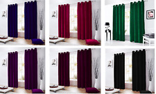 1 Pc Velvet Lined Curtain Ringtop  EyeletGrommet Curtain In All Sizes & Colors