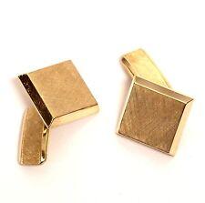18k yellow gold men's tie tac cuff links gents estate vintage antique 16.9g