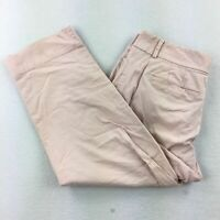 Ann Taylor LOFT Stretch Julie Cropped Casual Pants Women's Cream Tan Sz 8
