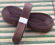 "Brown 5yds 3/8"" (10 mm)Solid Grosgrain Ribbon Hair Bows Ribbion!"