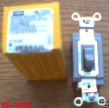 HUBBELL HBL1223GY SWITCH 20 Amp 120-277 Toggle 1223GY