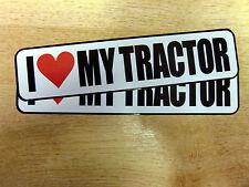 """2x """"Amo la mia TRATTORE"""" le decalcomanie / gli adesivi"""