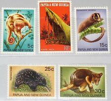 PAPUA NEUGUINEA NEW GUINEA 1971 197-01 323-27 Animals Tiere Fauna Cuscus MNH