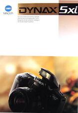 Minolta Dynax 5xi Prospekt brochure - (0352)