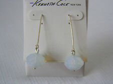 Kenneth Cole Silver Tone Iridescent Translucent Bead Drop Earrings