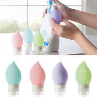 Silicone Travel Bottle Shampoo Shower Gel Lotion Sub-bottling Tube Squeeze ToolB