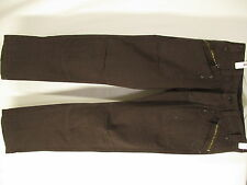 Diesel Mens Brown Flat Cotton Chinos Pants Size 29 Button Fly 31x32.5