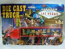 "Las Vegas Nevada Die Cast Truck 7 1/2"" inch Fabulous Casino Hotel Red in Package"