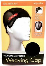 TIFFANY ADJUSTABLE STRETCH WEAVING CAP WIG CAP BLACK #1045BK THE CHALLENGER