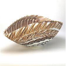 "Home Decor - Murano Glass Decorative Shell Bowl - Ivory / Brown - 12"" x 7"""