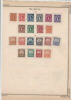 nicaragua stamps on album page ref r11832
