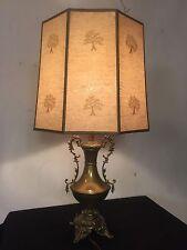 "Antique victorian Brass Lamp Highly Ornate,25""H,12""W.C12pix4Closeups. MAKE OFFER"