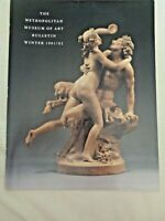 Metropolitan Museum of Art Bulletin Winter 1991 Bacchus Nymph French Terracottas