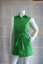 VINTAGE ROBE TUNIQUE 1970 Vert Pomme - VTG DRESS 70s TUNIC MOD Green Appel