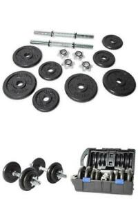 CAP Barbell 40 Pound Adjustable Cast Iron Dumbbell Set with Case