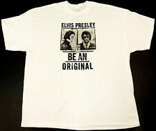 ELVIS PRESLEY BE AN ORIGINAL T-shirt THE KING Mug Shot Tee Adult 2XL White New