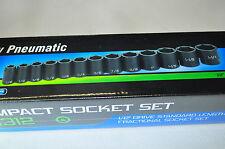 "1/2in Dr. 13 Pc.Sae inch Std Impact Socket Set 7/16""to 1-1/4"" Grey 1312"