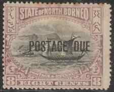 NORTH BORNEO 1901 POSTAGE DUE 8c MALAY DHOW MH