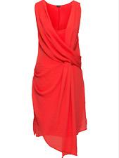 Kaleidoscope BodyFlirt Size 12 Blood Orange Bright Sleeveless Wrap DRESS £38