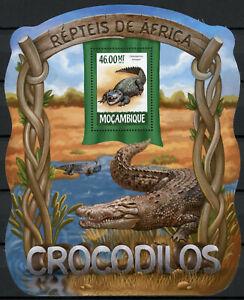 Mozambique Reptiles Stamps 2015 MNH Crocodiles Dwarf Crocodile Fauna 1v S/S I