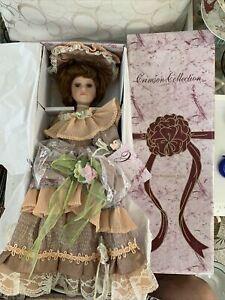 "Vtg CRIMSON COLLECTION Porcelain Southern Belle Doll 20"" Victorian 8064 NEW N BX"