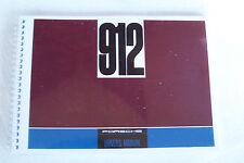 1967 Porsche 912 Owners Manual Parts Service reprint  new 1966