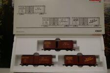 """Märklin H0 45647 Güterwagen-Set """"UNION PACIFIC""""  Double-Door Box Car Set OVP  C6"""