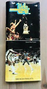 1980/1981 UCLA Bruins NCAA Basketball Media Guide Program Coach Larry Brown