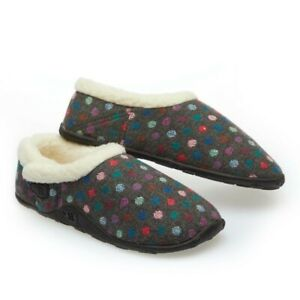 Homeys Ladies Lily Grey Multi Dot Slippers NEW
