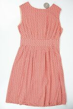 NWT Apricot Brand Summer Sleeveless Dress Salmon Pink Print Sz M US/EUR -12 UK