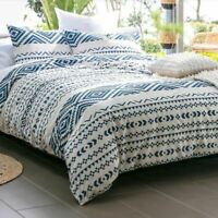 Boutique at Home Zuma Geometric Blue King Quilt Dooner Cover