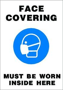 face covering must be worn inside here