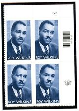 US  3501  Roy Wilkins 34c -Plate Block of 4 - MNH - 2001 - P22 UR