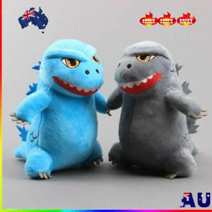 2Pcs/Set King Monster Godzilla Plush Toy Soft Stuffed Animal Doll 8'' Kids Gift