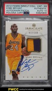 2012 Immaculate Collection Kobe Bryant PATCH PSA/DNA 10 AUTO /100 PSA Auth