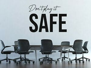 Custom Name Dont Play Safe Wall Decal Decor Sticker Black Vinyl Lettering MS984