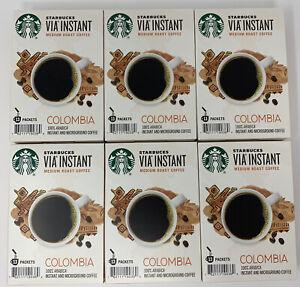 STARBUCKS VIA COLOMBIA Instant Medium Roast Coffee 78 ct Best By October 2020