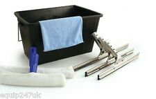 7PC PROFESSIONAL WINDOW CLEANING KIT SQUEEGEE APPLICATOR MICROFIBRE CLOTH BUCKET